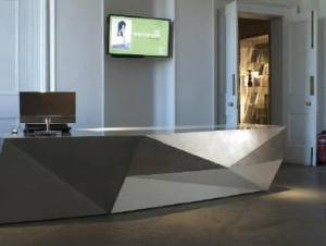 Allison Architects Glasgow reception desk design