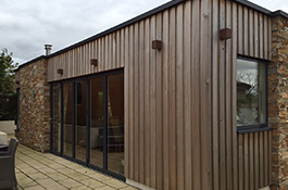 Allison Architects Glasgow Exteranl view of western red cedar