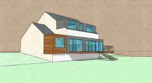 , Building Extension Project in Newton Mearns. Architects, Allison architecture asked to prepare concept studies