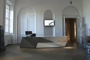 Gallery Interior design and reception desk design
