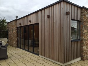 Allison Architects Glasgow - External View of cedar