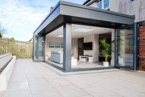 Architects Glasgow Extension - open bifolds