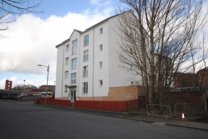 , flatted development, Springburn.