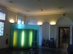 , reception foyer and desk, scottish national gallery of modern art, edinburgh