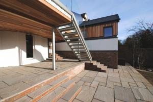 Raised Terrace and Home Office Design by Allison Architects Glasgow
